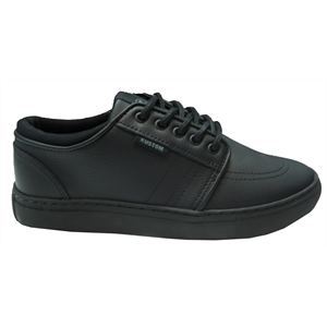 Sum16 KUSTOM BOYS REMARK TOUGH BLK LTHR-footwear-Blitz Surf Shop