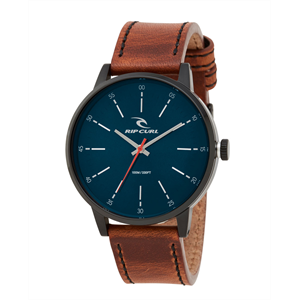 RIP CURL DRAKE LEATHER WATCH MIDNIGHT-watches-Blitz Surf Shop