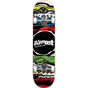 ALMOST PRIMAL PRINT 7.76 SKATEBOARD-skate-Blitz Surf Shop