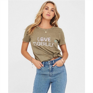 TIGERLILY SALUTE TEE OLIVE -clearance-Blitz Surf Shop