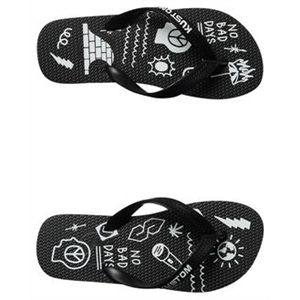 Sum17 KUSTOM BOYS BLEND BASE BLK BLK WHT-footwear-Blitz Surf Shop