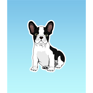 PRO AND HOP FRENCH BULLDOG STICKER-stickers-Blitz Surf Shop