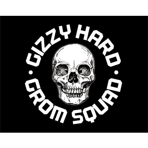GIZZY HARD GROM SQUAD STICKER-accessories-Blitz Surf Shop