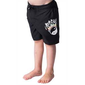 Sum18 RIP CURL FLAMIN YANG GROMS B/SHORT-childrens-Blitz Surf Shop