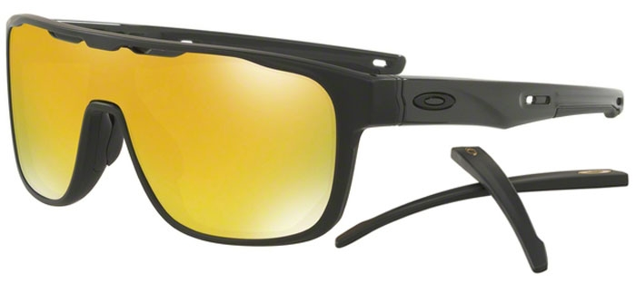 OAKLEY CROSSRANGE SHIELD MT BLK 24K IRID - Sunglasses   Blitz Surf Shop NZ  - Surf  3f9e95fed88fe