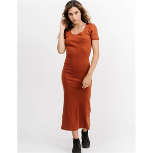 Sum18 THRILLS RIBBED MIDI DRESS-dresses-Blitz Surf Shop
