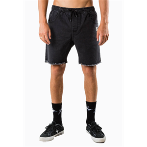 Sum18 RUSTY BALLER DENIM ELASTIC SHORTS-shorts-Blitz Surf Shop