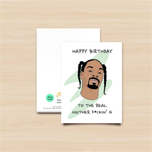 PRO AND HOP SNOOP GREEN GREETING CARD-new arrivals-Blitz Surf Shop