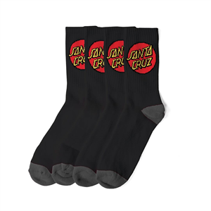 Win19 SANTA CRUZ 4PAIR SOCK PACK-footwear-Blitz Surf Shop