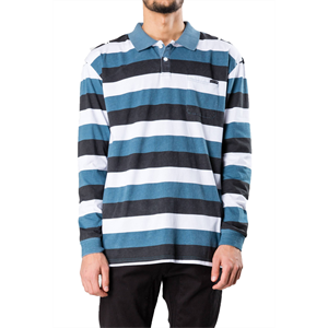 Win19 RUSTY TRICYCLE LONG SLEEVE POLO-clearance-Blitz Surf Shop