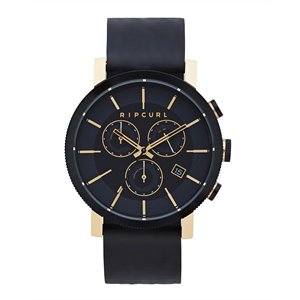 RIPCURL BEACON CHRONO GOLD LTHR WATCH-watches-Blitz Surf Shop