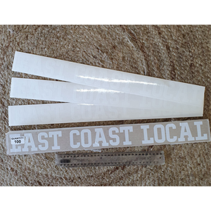 EAST COAST LOCAL CAR STICKERS