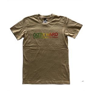 GIZZY HARD RASTA CHEST PRINT TEE-new arrivals-Blitz Surf Shop