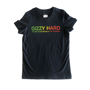 GIZZY HARD WOMENS RASTA TEE-new arrivals-Blitz Surf Shop