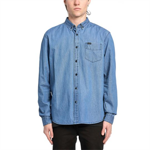 Win21 GLOBE GOODSTOCK OXFORD LS SHIRT-mens-Blitz Surf Shop